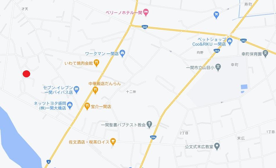 一関市山目字立沢 売り土地