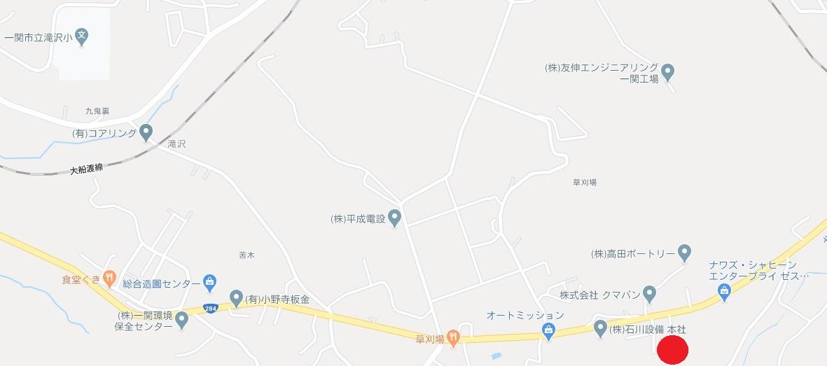 一関市滝沢字一ノ沢 中古住宅