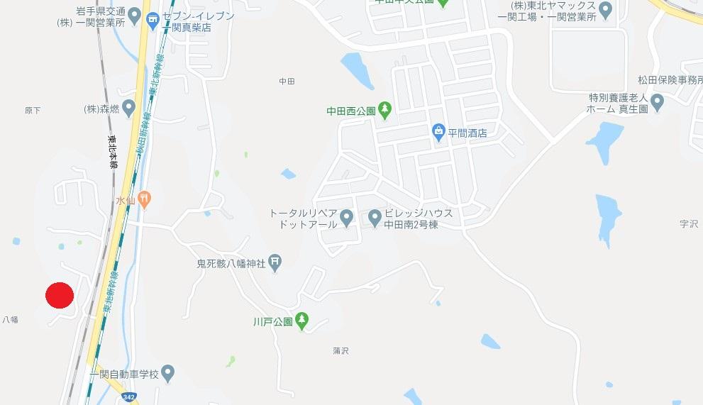 一関市真柴字八幡 売り土地