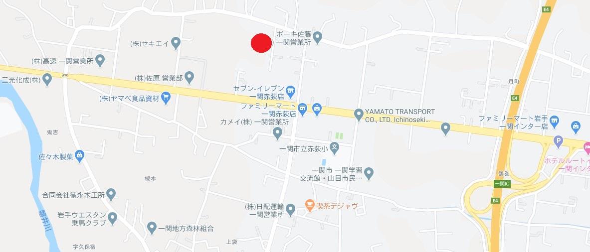 一関市赤荻字亀田 売り土地
